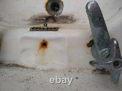 Vintage 1920s wall-mounted cast iron sink
