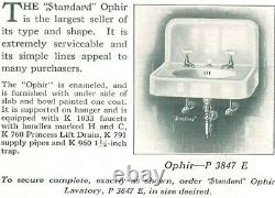 Vintage 1920s wall-mounted cast iron sink (Standard Mfg Co The Ophir)