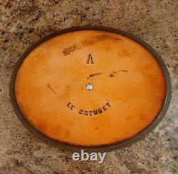 Vintage 1950 LE CREUSET Oval Dutch Oven A 2 Quart Flame Orange