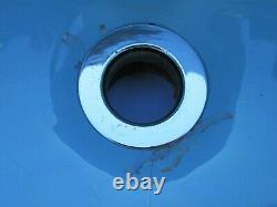 Vintage 1970s Kohler Blue Oval Porcelain Bathroom Sink Cast Iron Made in USA