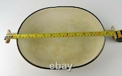 Vintage Caramel LE CREUSET Enzo MARI No 29 Oval Casserole Dish Cast Iron 2.5 Qt