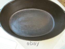 Vintage Cast Iron Circa 1922 Wagner Ware No. 3 Drip Drop Oval Roaster #1283 4805