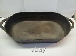 Vintage Cast Iron Fish Fryer #3060 Oval Pan