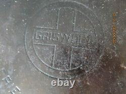 Vintage GRISWOLD Oval Fish Skillet #15 Cast Iron #1013