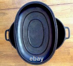 Vintage Griswold Cast Iron Dutch Oval Oven No. 7 With Lid And Trivet