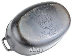 Vintage Griswold No 5 (645/646) Cast Iron Oval Roaster Seasoned Cond