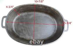Vintage Griswold No 7 (2631/2632) Cast Iron Oval Roaster Seasoned Cond