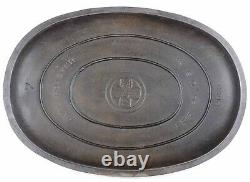 Vintage Griswold No 7 (2631/2632) Cast Iron Oval Roaster Seasoned Cond Read