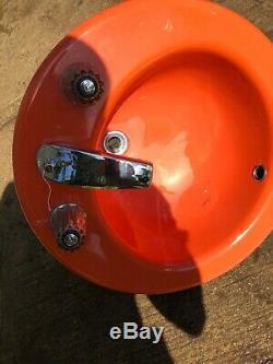 Vintage Kohler 3-Hole Drop-in Bathroom Sink Orange Enamel Cast Iron 1973 Upcycle