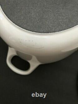 Vintage LE CREUSET Cast Iron Oval Dutch Oven #29 Enameled Off-White White 5QTS