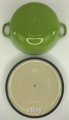 Vintage Le Creuset 2.75 QT Soup Dutch Oven Enamel Cast Iron Kiwi Green With Lid