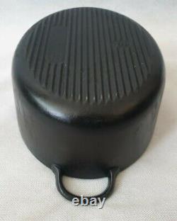 Vintage Le Creuset Black Cast Iron Oval Casserole Dish with Lid Size E 11 28cm