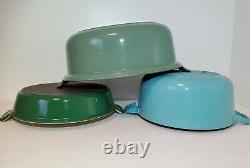 Vintage Le Creuset Dutch Oven #26 RARE TEAL Blue Green EUC 3.5 Qt Cocotte