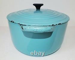Vintage Le Creuset Dutch Oven 3.5 Qt D PARIS BLUE #25 Oval Roaster