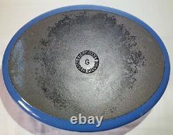 Vintage Le Creuset Dutch Oven 6-3/4 Qt MARSEILLE BLUE G #31 6.75Qt Oval