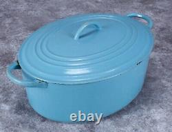 Vintage Le Creuset Dutch Oven C Turquoise