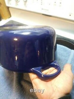 Vintage Le Creuset Enamel Cast Iron Oval Dutch Oven- Cobalt BLUE -5 Quart- #29