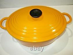 Vintage Le Creuset Enamel Cast Iron Oval Dutch Oven Quince/dijon E 5qts Lovely