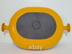 Vintage Le Creuset Enzo Mari La Mama Au Gratin #29 Saffron Yellow Orange