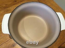 Vintage Le Creuset Futura Oval Cast Iron Casserole Dish Size 26 White