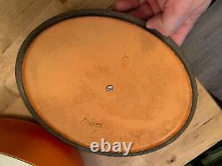 Vintage Le Creuset Red/orange E Size Oval Dutch Oven/ Cocotte