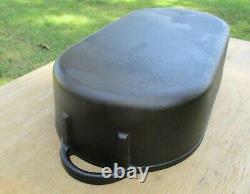 Vintage Lodge USA Cast Iron Deep Fish Fryer # 3060 Oval Cook Pot Pan Kettle