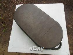 Vintage New NOS Unused Lodge 3060 USA Oval Deep Fish Fryer Cast Iron Pan