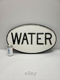 Vintage Railroad Cast Iron Oval Water Sign (large)