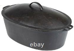 Vintage Wager Sidney O No 7 Cast Iron Oval Roaster Excellent Cond circa 1920