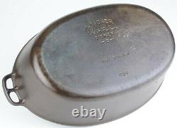 Vintage Wager Ware No 5 (1285) Cast Iron Oval Roaster Seasoned Condition