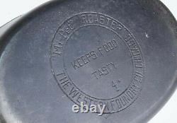 Vintage Western Foundry No 4 Mi-Pet Cast Iron Oval Roaster