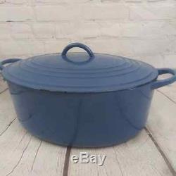 Vtg Cousances Le Creuset H Oval Dutch Oven Cast Iron Pot Made in France 8.5 Qt