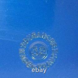 Vtg Doufeu Cousances Le Creuset #32 Cast Iron Oval Dutch Oven 5 Qt Lapis Blue