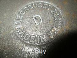 Vtg Le Creuset Cast Iron Brown Dutch Oven D 4.5qt & 3 Oval Au Gratin 2-#20 #28