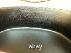 Wagner Ware Large #7 Cast Iron Oval Roaster with Embossed Logo Lid #1287 NICE
